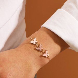 5 for $25 Fancy  Butterfly Pink Bracelet